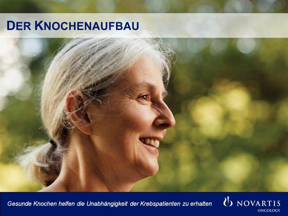 D ER K NOCHENAUFBAU Gesunde Knochen helfen die Unabhängigkeit der Krebspatienten zu erhalten