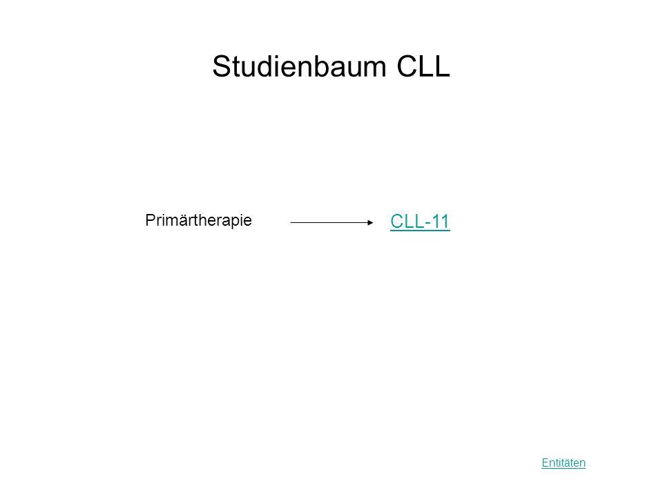 Studienbaum CLL CLL-11 Entitäten Primärtherapie