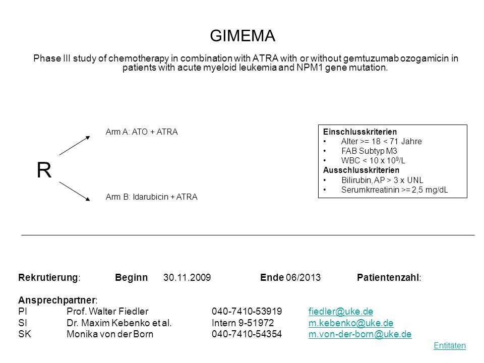 GIMEMA Phase III study of chemotherapy in combination with ATRA with or without gemtuzumab ozogamicin in patients with acute myeloid leukemia and NPM1