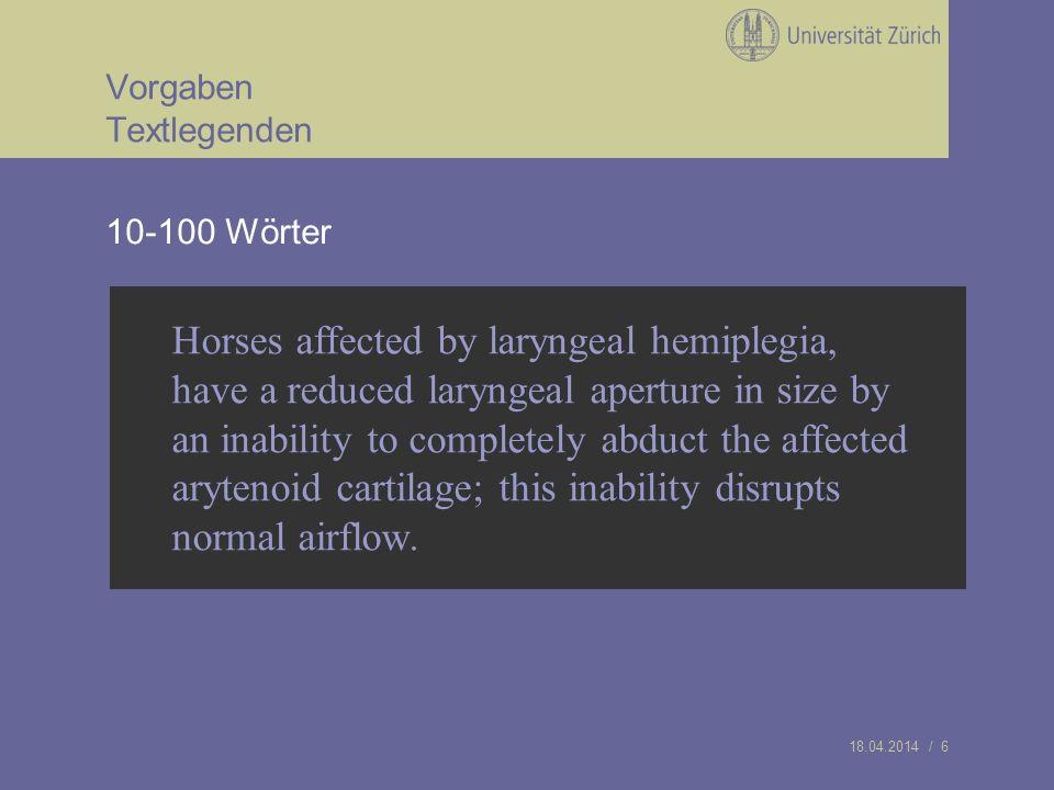 18.04.2014 / 7 Vorgaben Rohmaterial/Bilder Endoskopiebilder