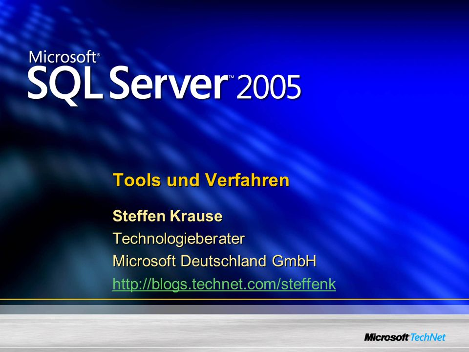 Microsoft TechNet TechNet CD- / DVD-Jahresabo www.microsoft.com/germany/technet/abo www.microsoft.com/germany/technet/abo Das Abo bietet Ihnen: Die Microsoft Knowledge Base Resource Kits/ Deployment Guides Whitepapers und Fallstudien Patches, Treiber, Service Packs und vieles mehr… englische Microsoft Beta-Versionen 2 kostenlose Support Anfragen 20% Preisrabatt auf alle weiteren Anfragen Unterstützung in Managed Newsgroups innerhalb von 48h Kostenfreie E-learning Kurse (Schwerpunkt Windows XP) www.microsoft.com/technet/signin bis 31.03.2006 www.microsoft.com/technet/signin TechNet Sample CD kostenfrei!
