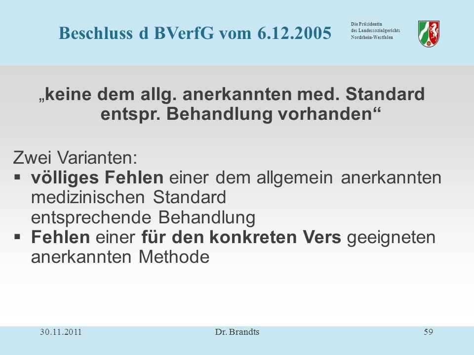 Die Präsidentin des Landessozialgerichts Nordrhein-Westfalen keine dem allg.
