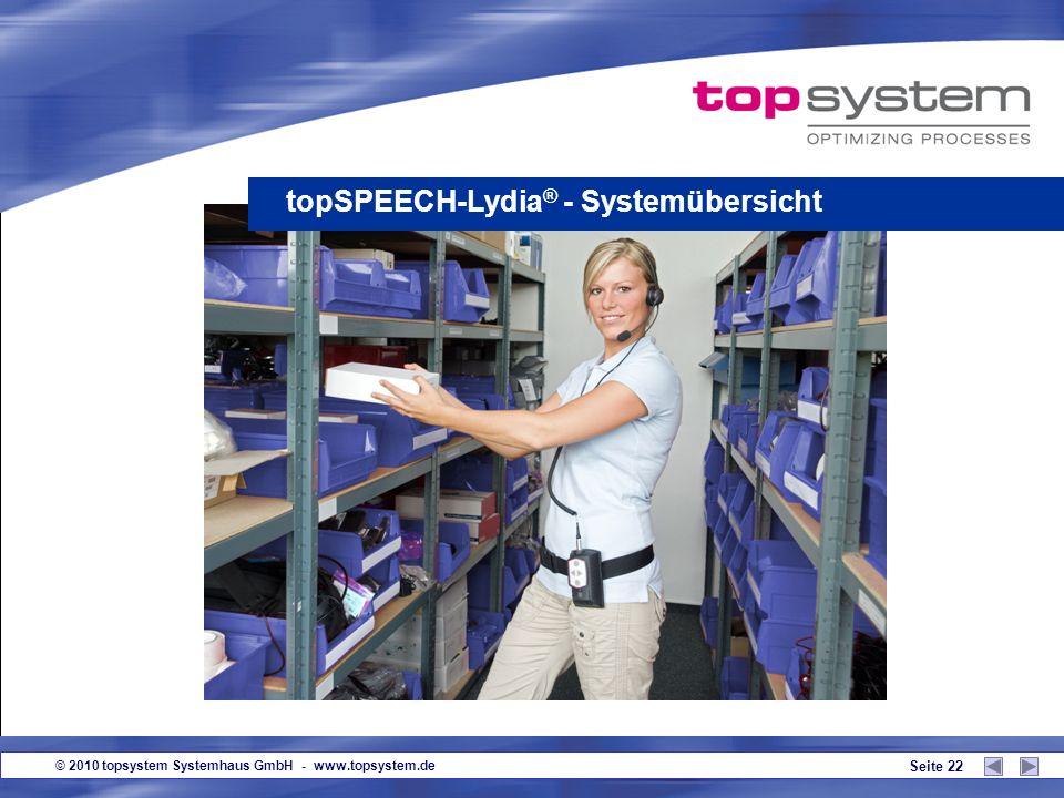 © 2010 topsystem Systemhaus GmbH - www.topsystem.de Seite 21 Produktvorteile aus Anwendersicht