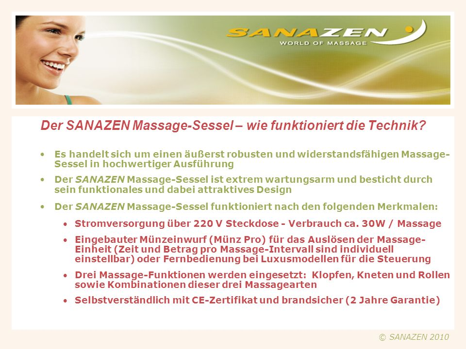 Der SANAZEN Massage-Sessel – wie funktioniert die Technik?.