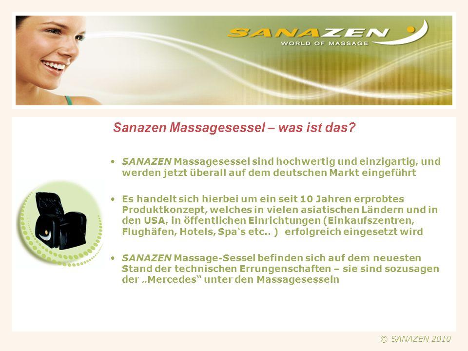 Der SANAZEN Münz-Massage-Sessel © SANAZEN 2010