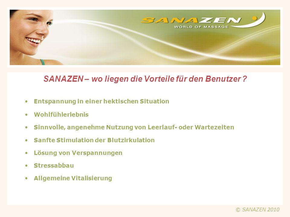 SANAZEN - Beispiele für die Plazierung der Münz-Massage-Sessel Tibarg EKZ Flughafen Dortmund Spielcenter Ahrensburg © SANAZEN 2010