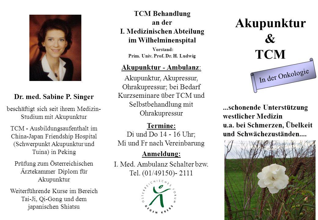 Akupunktur & TCM...schonende Unterstützung westlicher Medizin u.a.