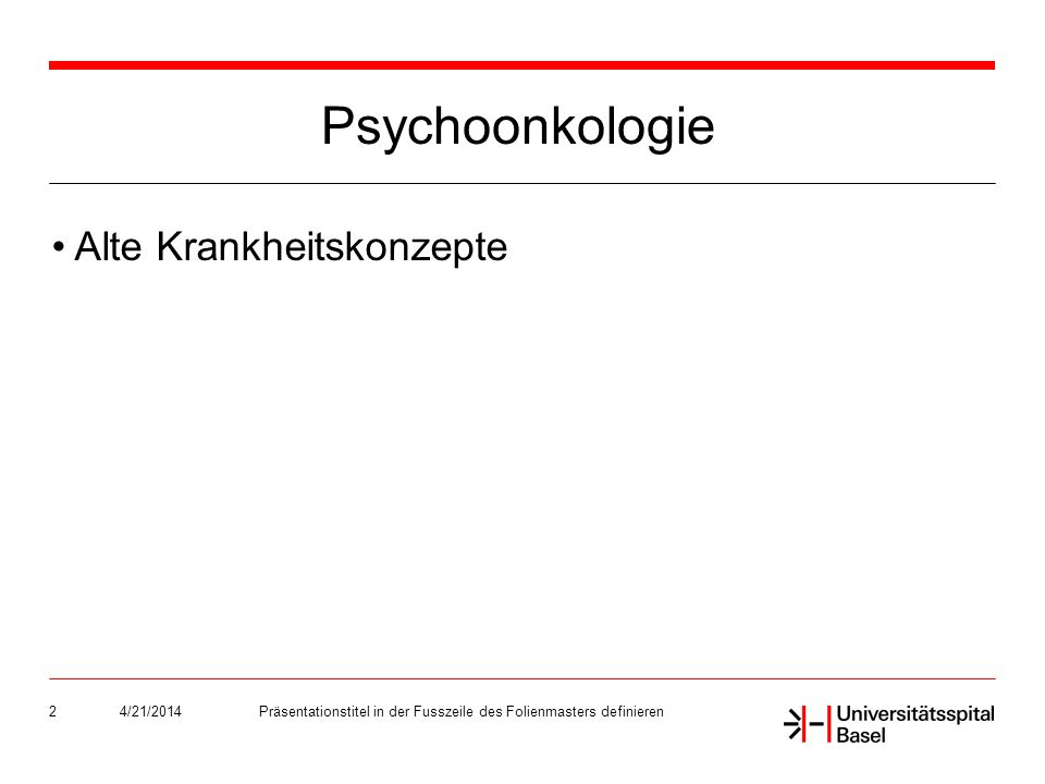 4/21/2014Präsentationstitel in der Fusszeile des Folienmasters definieren3