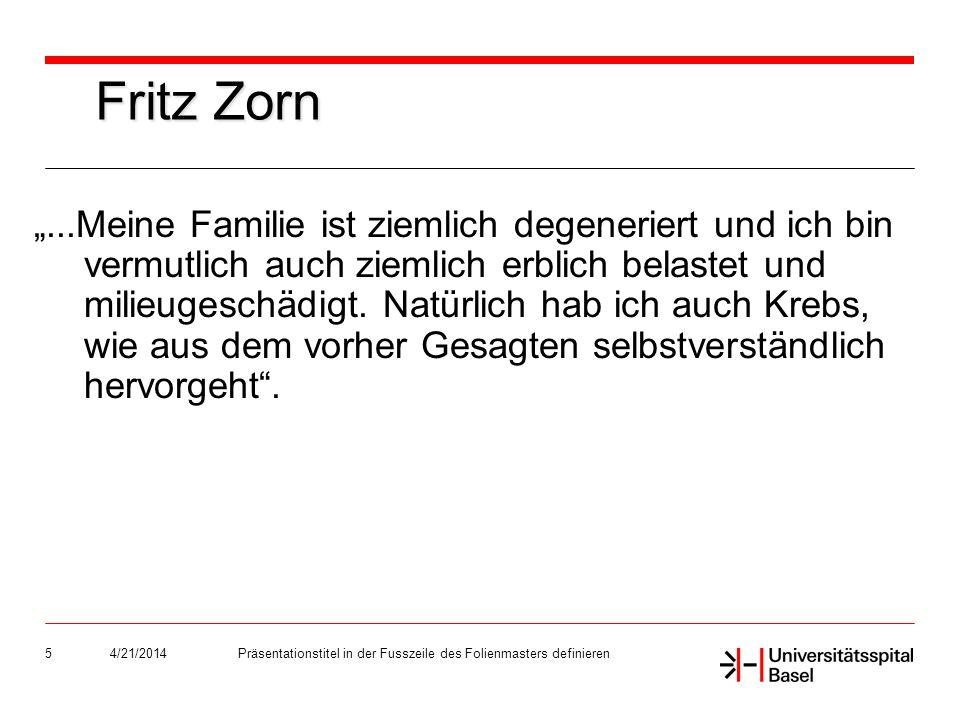 4/21/2014Präsentationstitel in der Fusszeile des Folienmasters definieren26