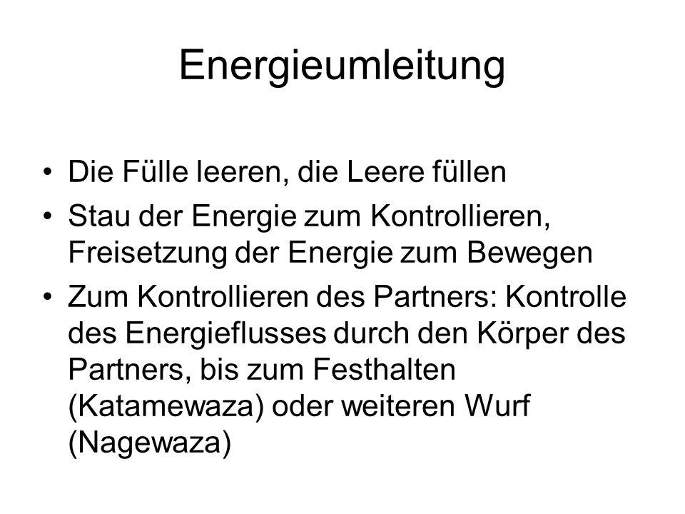 Energieumleitung Die Fülle leeren, die Leere füllen Stau der Energie zum Kontrollieren, Freisetzung der Energie zum Bewegen Zum Kontrollieren des Part