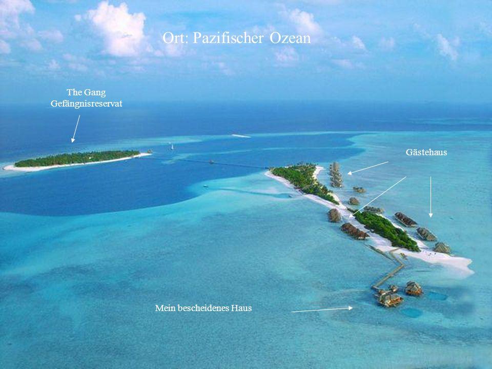 Ort: Pazifischer Ozean Gästehaus Mein bescheidenes Haus The Gang Gefängnisreservat