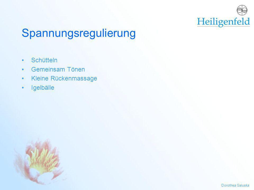 Dorothea Galuska Spannungsregulierung Schütteln Gemeinsam Tönen Kleine Rückenmassage Igelbälle