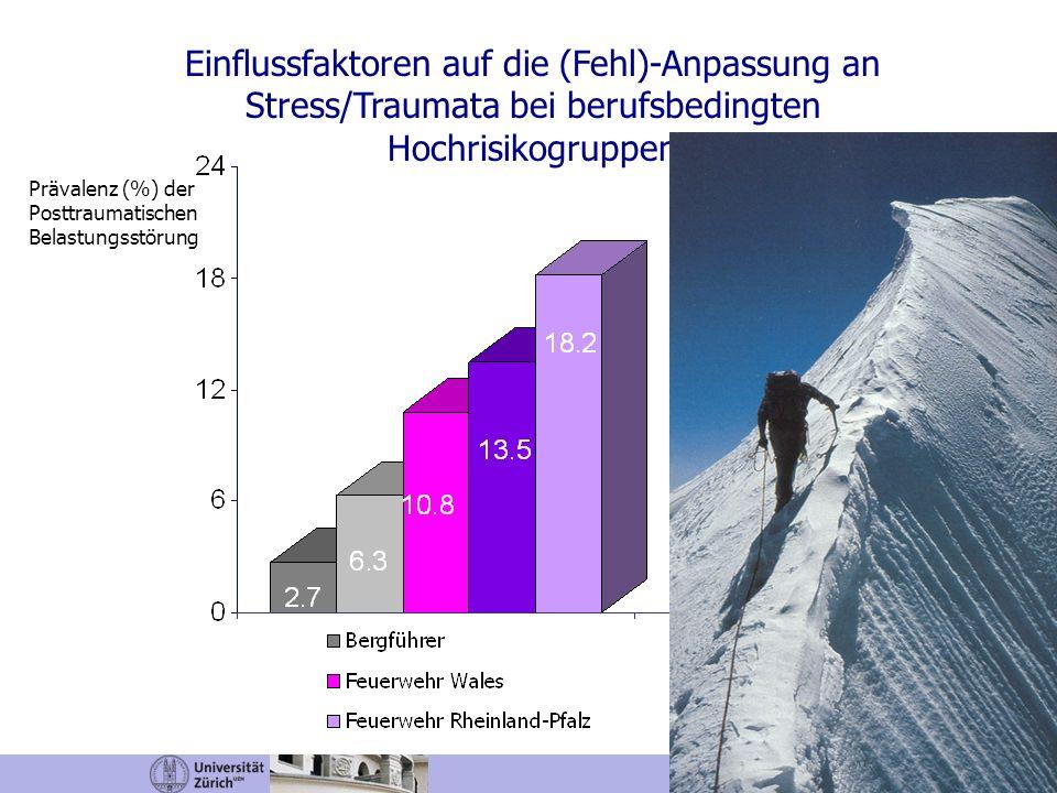 Einflussfaktoren auf die (Fehl)-Anpassung an Stress/Traumata bei berufsbedingten Hochrisikogruppen Wagner, Heinrichs & Ehlert, 1998; Sommer & Ehlert,