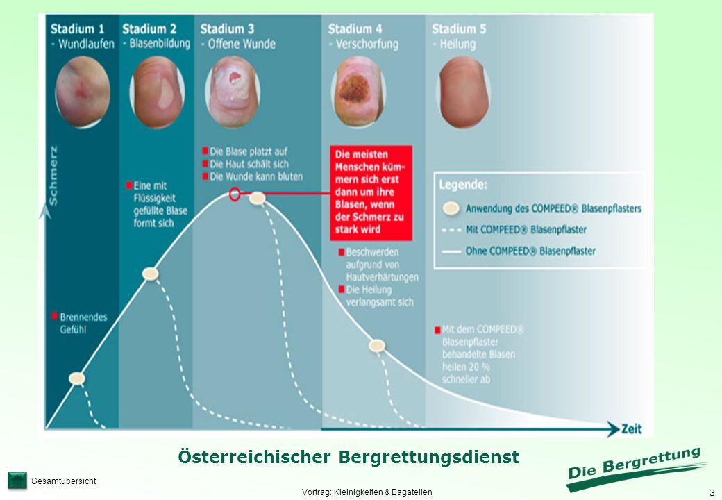 3 Österreichischer Bergrettungsdienst Gesamtübersicht Vortrag: Kleinigkeiten & Bagatellen