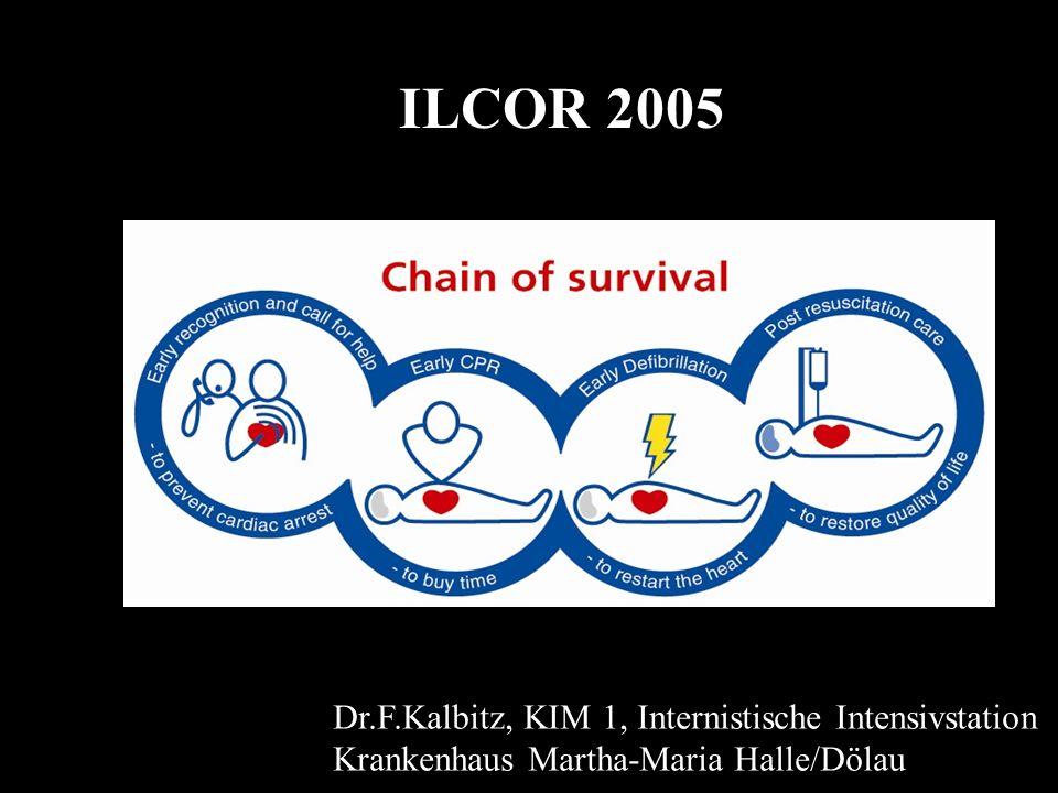 ILCOR 2005 inhaltliche Schwerpunkte A Erwachsene adult basic life support !!.
