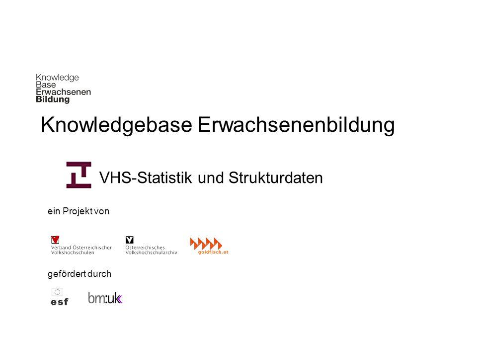 Knowledgebase Erwachsenenbildung VHS-Statistik und Strukturdaten ein Projekt von gefördert durch