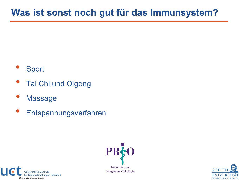Was ist sonst noch gut für das Immunsystem? Sport Tai Chi und Qigong Massage Entspannungsverfahren