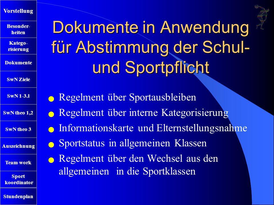 SwN Ziele SwN 1-3.l SwN theo 1,2 SwN theo 3 Auszeichnung Team work Sport koordinator Stundenplan Besonder- heiten Katego- risierung Dokumente VorstellungDanke für ihre Aufmerksamkeit