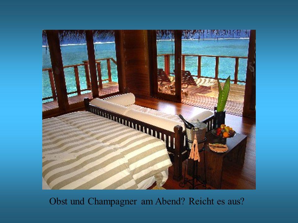 Obst und Champagner am Abend? Reicht es aus?