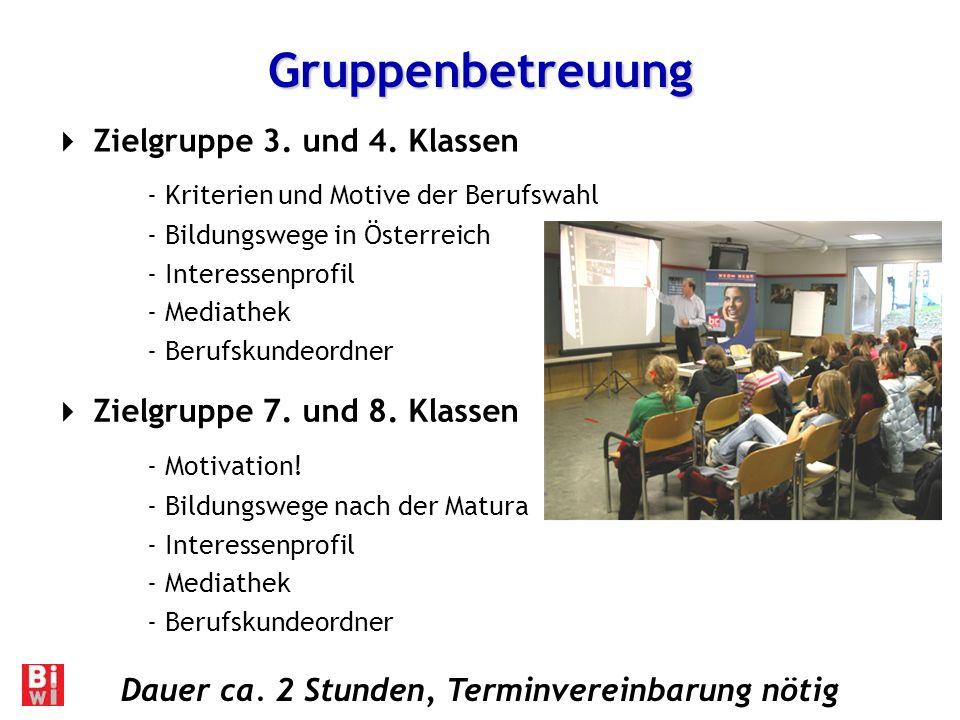 Gruppenbetreuung Zielgruppe 3.und 4.