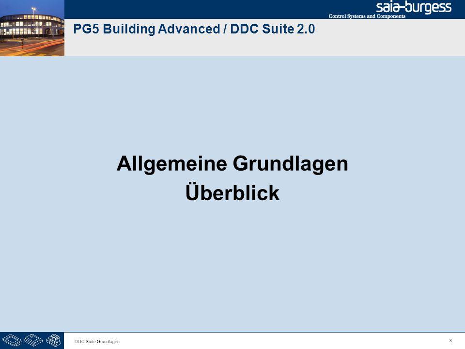 3 DDC Suite Grundlagen PG5 Building Advanced / DDC Suite 2.0 Allgemeine Grundlagen Überblick