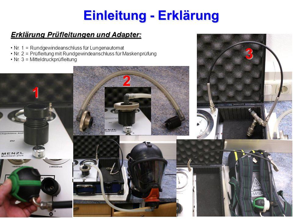 Einleitung - Erklärung Erklärung Prüfleitungen und Adapter: Nr.