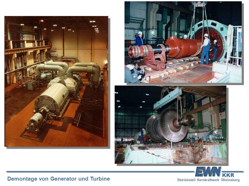 Betriebsteil Kernkraftwerk Rheinsberg Demontage von Generator und Turbine KKR