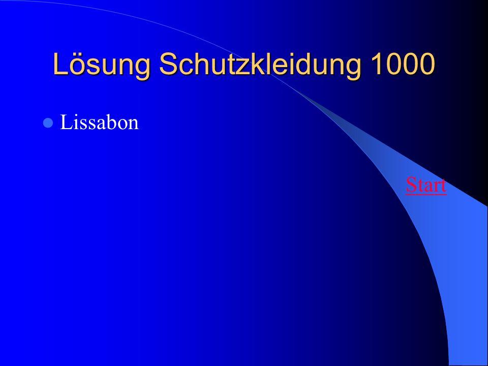 Lösung Schutzkleidung 1000 Lissabon Start