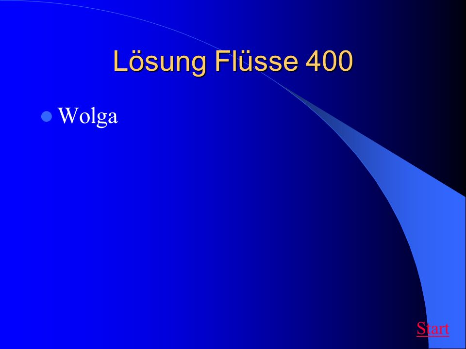Lösung Flüsse 400 Wolga Start