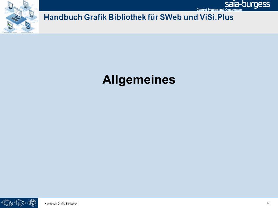 68 Handbuch Grafik Bibliothek Handbuch Grafik Bibliothek für SWeb und ViSi.Plus Allgemeines
