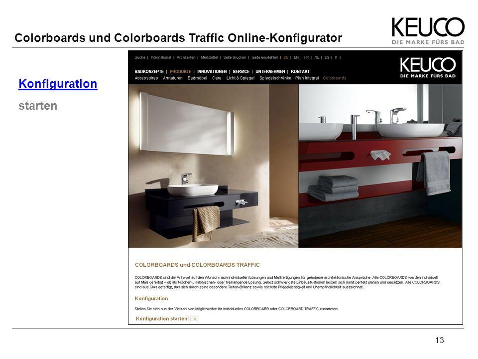 13 Konfiguration starten Colorboards und Colorboards Traffic Online-Konfigurator