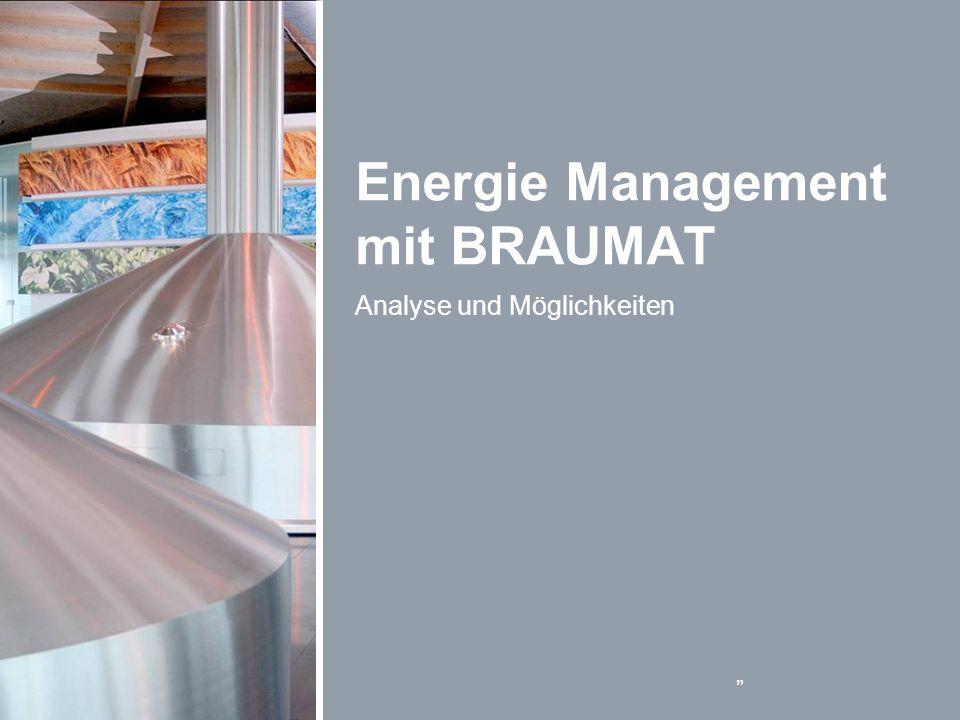 Energie Management mit BRAUMAT Analyse und Möglichkeiten