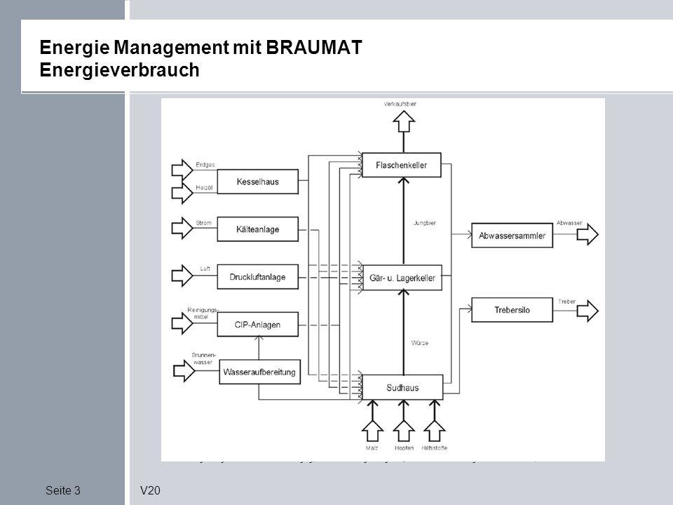 Seite 14V20 Energie Management mit BRAUMAT Applikative Lösung mit Braumat Quelle: EnergiemanagementSonderdruck zur Fachtagung; Betriebliches Energiemanagement der VDI-Gesellschaft Energietechnik am 6./7.3.2001, Cottbus