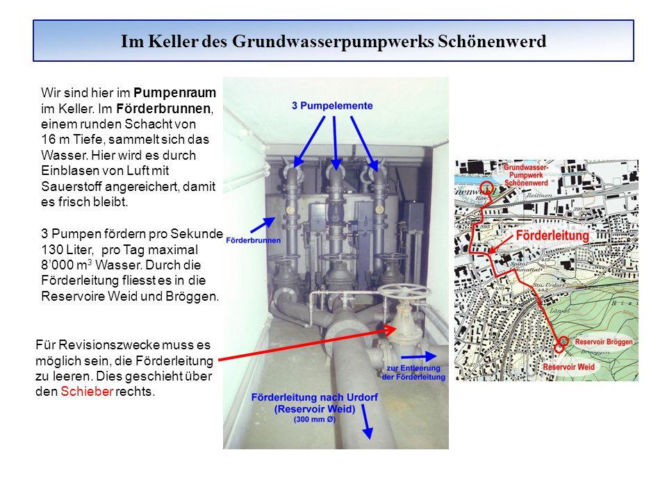 Das Grundwasserpumpwerk Badwies Das Grundwasserpumpwerk Badwies wurde 1937 erbaut.