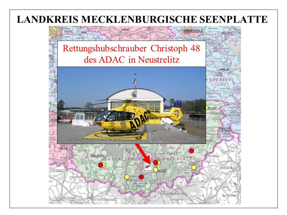 N Rettungshubschrauber Christoph 48 des ADAC in Neustrelitz