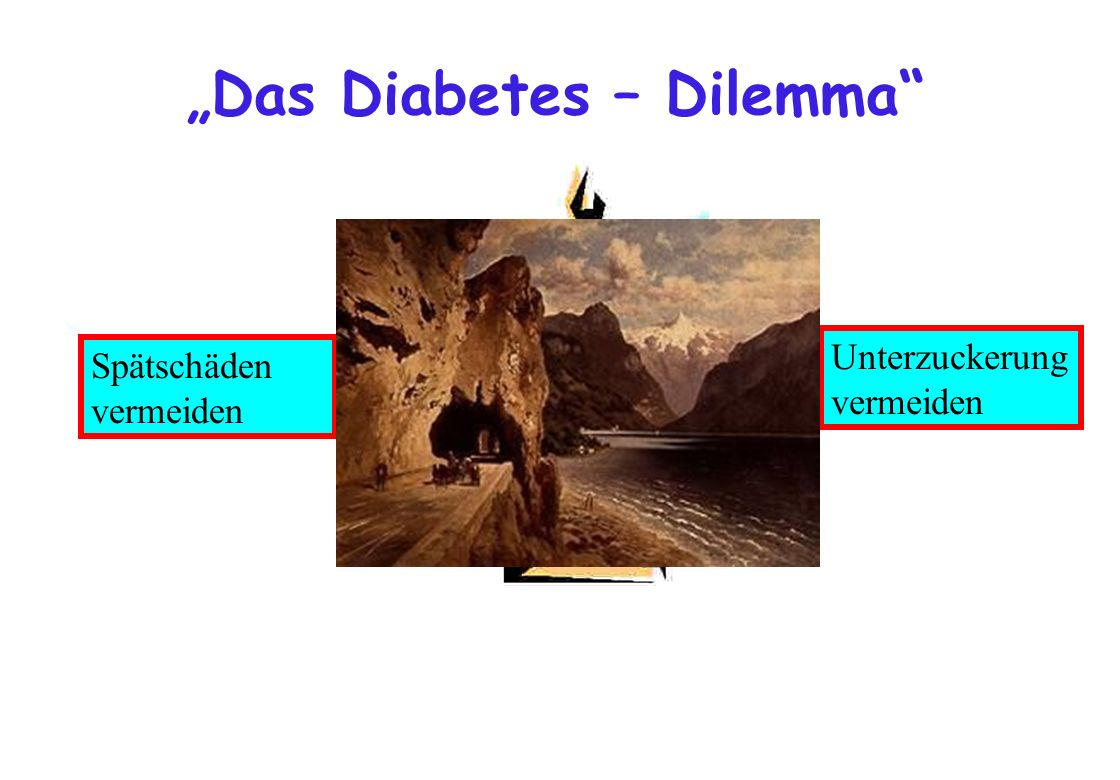 Das Diabetes – Dilemma Spätschäden vermeiden Unterzuckerung vermeiden