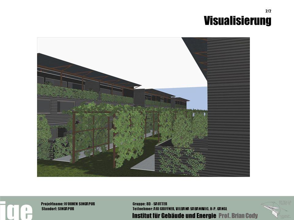 Projektname: WOHNEN SINGAPUR Standort: SINGAPUR Gruppe: 8D - SAUTTER Teilnehmer: ARI GRIFFNER, VILDANA SABANOVIC, H-P. GANGL 2/2 Visualisierung Visual