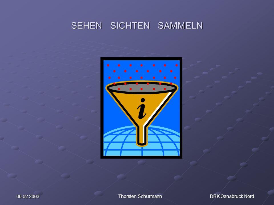 06.02.2003 Thorsten Schürmann DRK Osnabrück Nord SEHEN SICHTEN SAMMELN