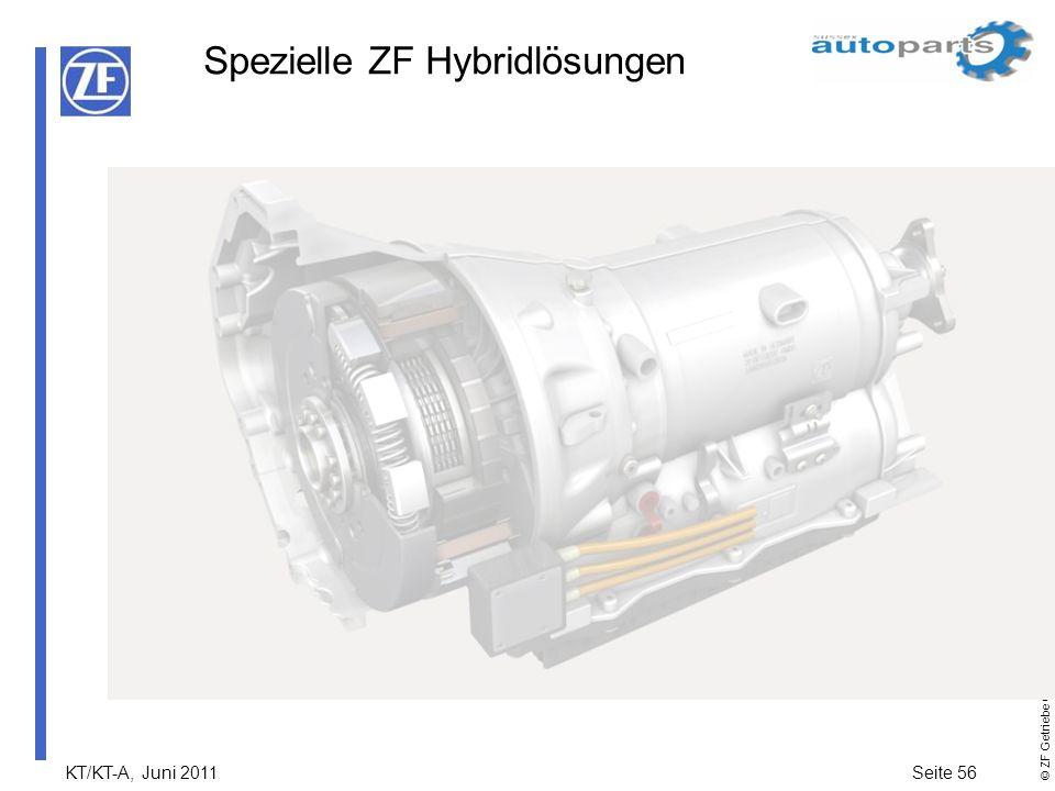 KT/KT-A, Juni 2011Seite 56 © ZF Getriebe GmbH Alle Rechte vorbehalten Spezielle ZF Hybridlösungen