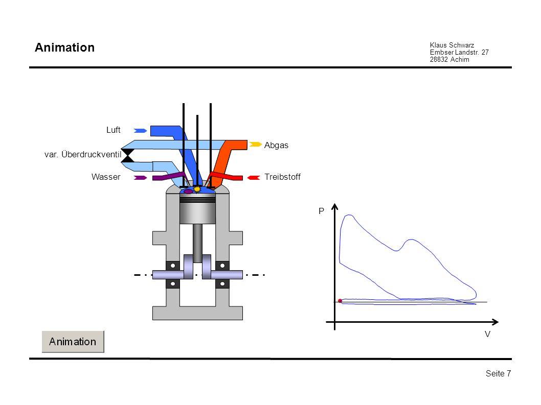 Klaus Schwarz Embser Landstr. 27 28832 Achim Seite 7 Abgas TreibstoffWasser Luft var. Überdruckventil P V Animation