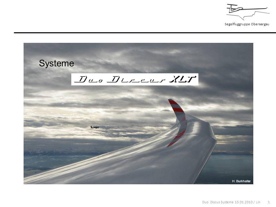 Segelfluggruppe Oberaargau Duo Discus Systeme 15.01.2010 / Lin 22 Ich wünsche Euch allen eine erlebnisreiche und unfallfreie Flugsaison und danke für die Aufmerksamkeit H.