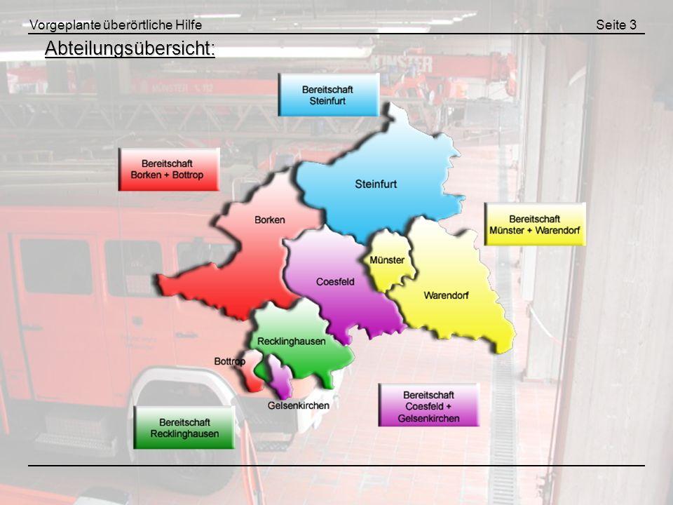 Vorgeplante überörtliche HilfeSeite 24 Funkkonzeption - 2m Abteilungsführung Funktion / EinheitFunkrufname Funktion / Einheit Funkrufname Florentine Bezirk Münster 01 Bereitschaftsführung z.B.
