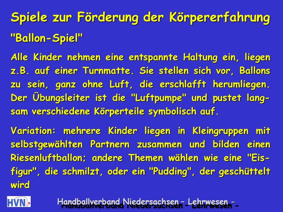 Handballverband Niedersachsen – Lehrwesen - Vermutlich sind Misserfolgserlebnisse eine Ursache für dieses Verhalten.