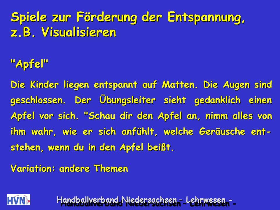 Handballverband Niedersachsen – Lehrwesen - Spiele zur Befriedigung des Bewegungsbedürfnisses Atomspiel Alle Kinder laufen durch den Raum.