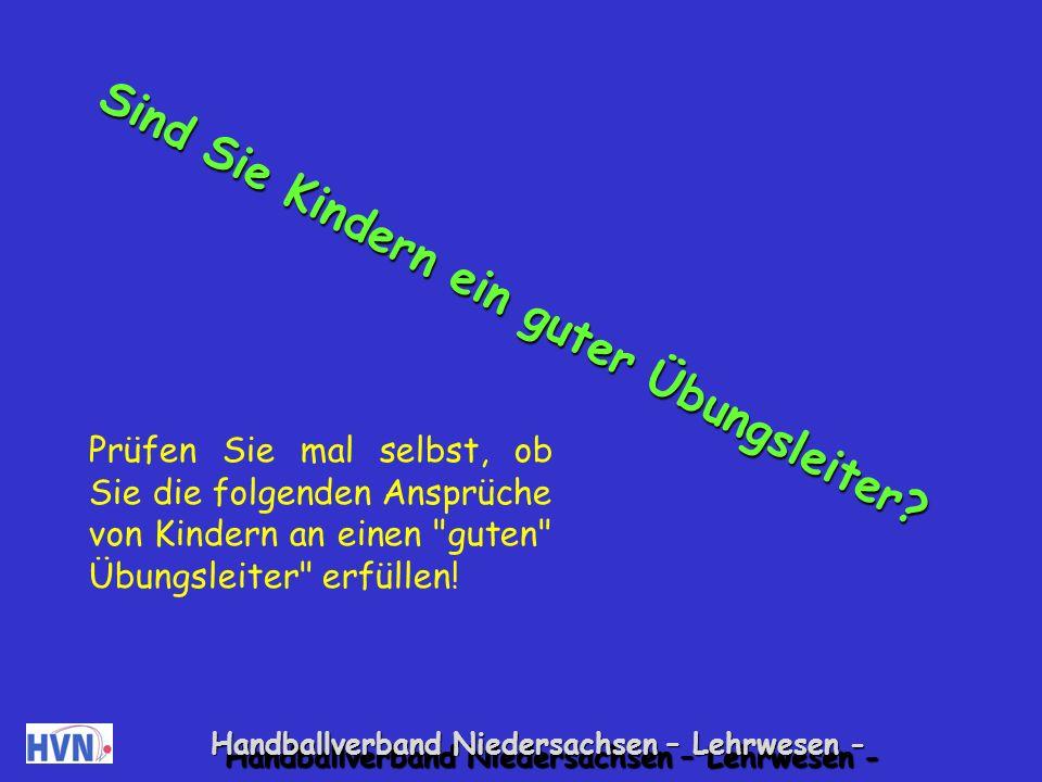 Handballverband Niedersachsen – Lehrwesen - Pädagogik - Schwierige Kinder