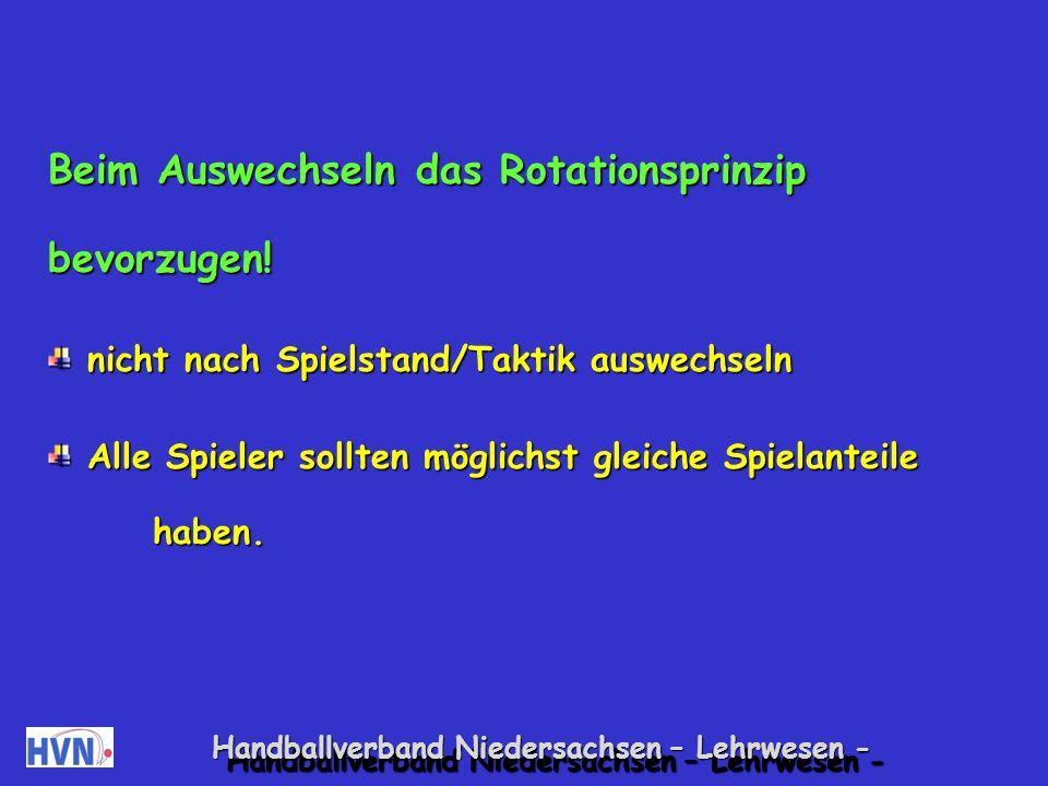 Handballverband Niedersachsen – Lehrwesen - Während des Spiels