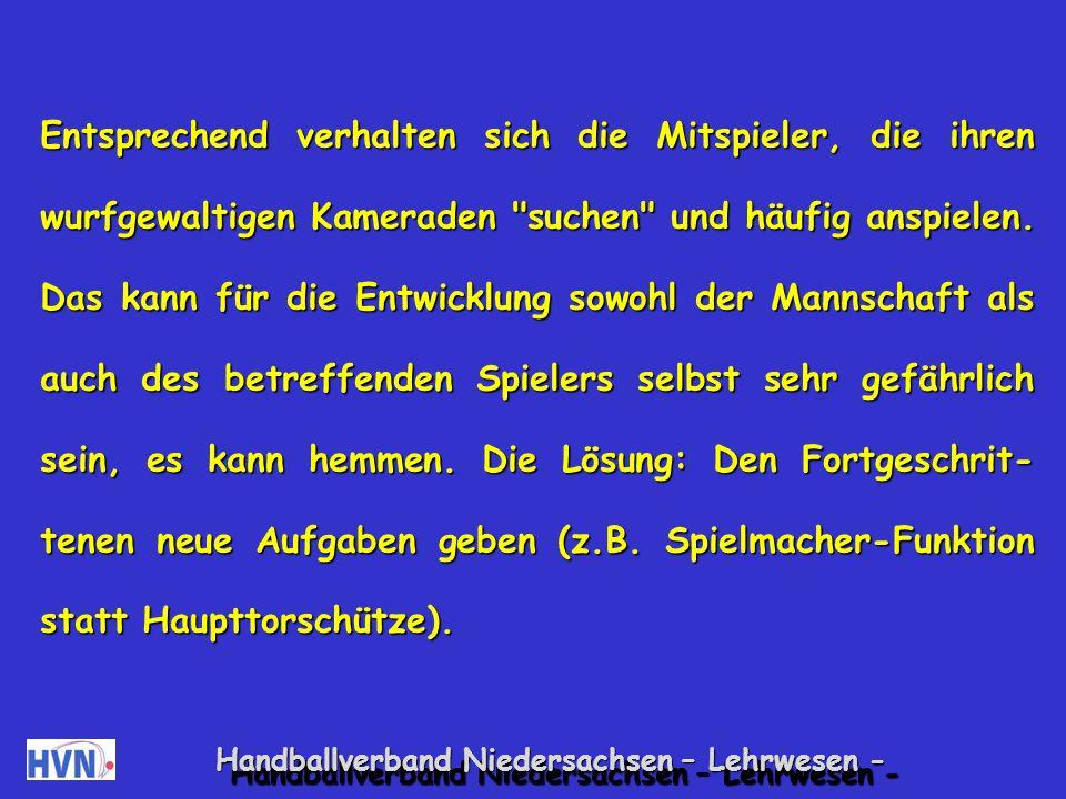 Handballverband Niedersachsen – Lehrwesen - Mit akzelerierten Spielern richtig umgehen.
