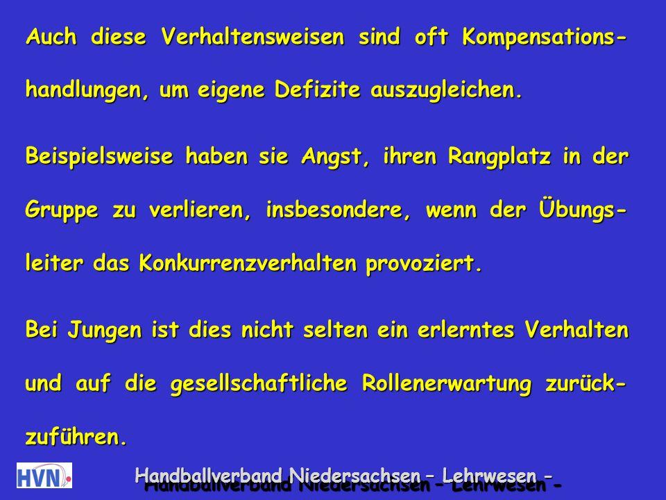Handballverband Niedersachsen – Lehrwesen - Sie schlagen, stoßen, treten oder bespucken sich.