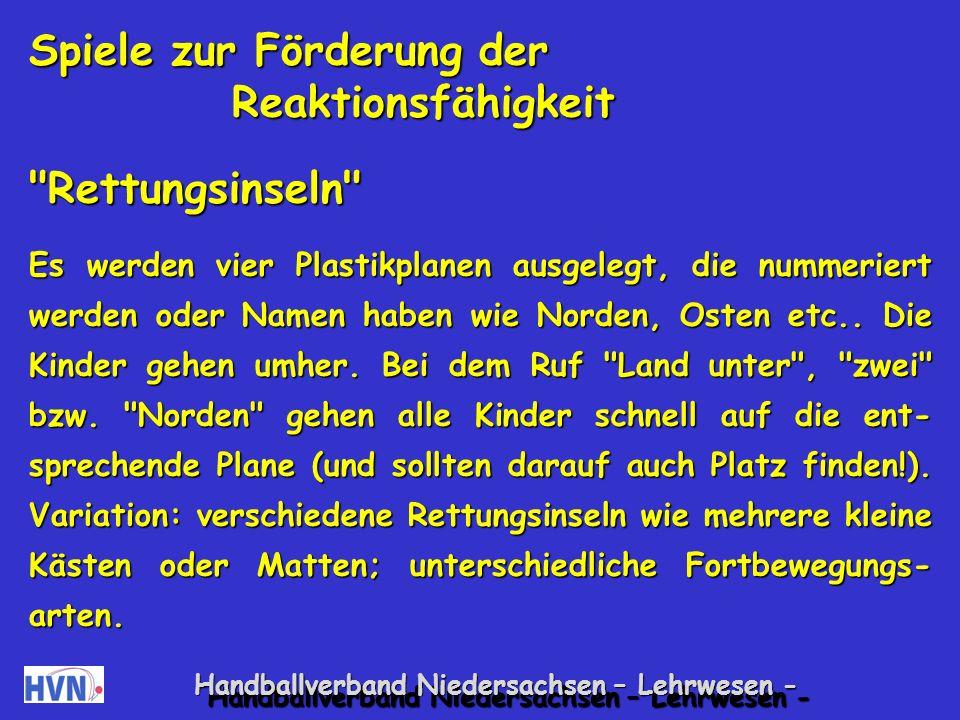 Handballverband Niedersachsen – Lehrwesen - Atomspiel Freies Laufen im Raum, auf Zuruf einer Zahl finden sich entsprechend viele Kinder zusammen.