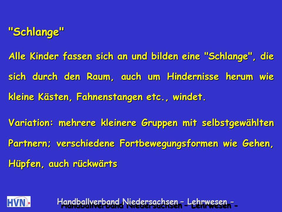 Handballverband Niedersachsen – Lehrwesen - Konkurrenzarme Gruppenspiele Schatzsuche Der Übungsleiter versteckt gemeinsam mit einigen Kindern Schätze , zum Beispiel Bierdeckel.